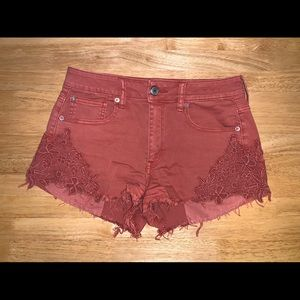 Rust colored festival shorts